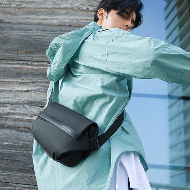 側背包滌綸-黑-時尚衝鋒 男包